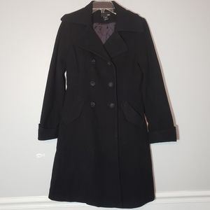 H&M Long Wool Blend Double Breasted Trench Coat 8